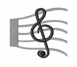 Musical Score embroidery design