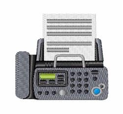 Fax Machine embroidery design