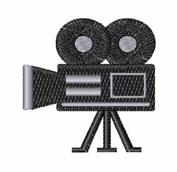 Movie Camera embroidery design
