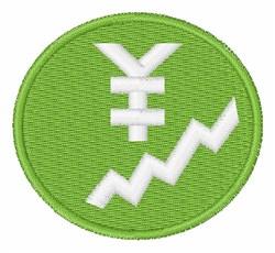 Yen Sign Chart embroidery design