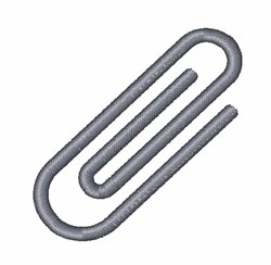 Paperclip embroidery design