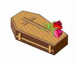 Coffin embroidery design
