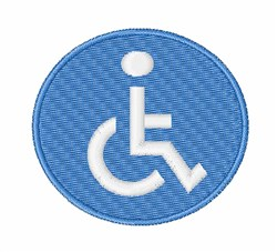 Wheelchair Sign embroidery design