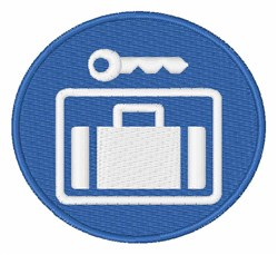 Left Luggage Sign embroidery design
