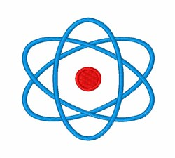 Blue Atom embroidery design