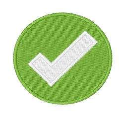 Check Mark Badge embroidery design