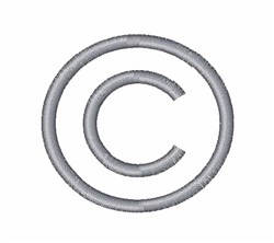 Copyright Symbol embroidery design