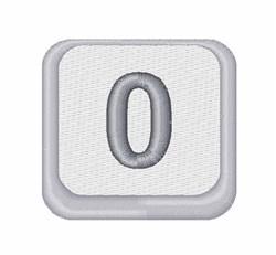 Zero Button embroidery design