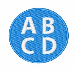 Capital ABCD embroidery design