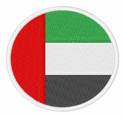 United Arab Emirates Flag embroidery design