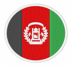 Afghanistan Flag embroidery design