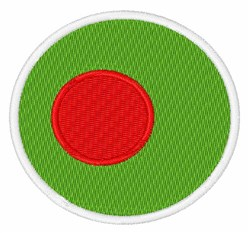 Bangladesh Flag embroidery design