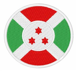 Burundi Flag embroidery design