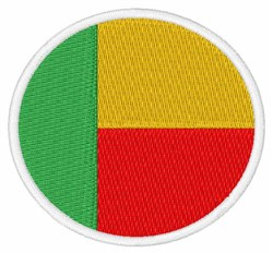 Benin Flag embroidery design