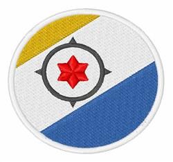 Caribbean Netherlands Flag embroidery design