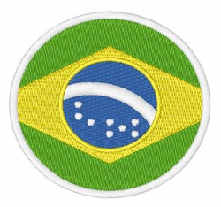 Brazil Flag embroidery design