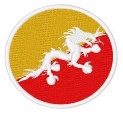 Bhutan Flag embroidery design