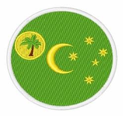 Cocos Keeling Islands Flag embroidery design