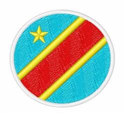 Democratic Republic of the Congo embroidery design