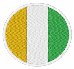 Cote d'Ivoire Flag embroidery design
