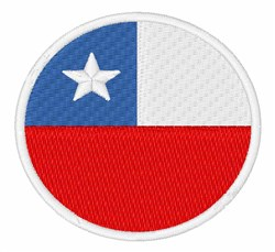 Chile Flag embroidery design