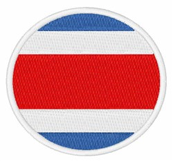 Costa Rica Flag embroidery design