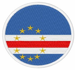 Cape Verde Flag embroidery design