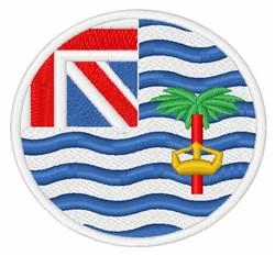 Diego Garcia Flag embroidery design