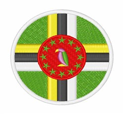 Dominica Flag embroidery design