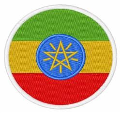 Ethiopia Flag embroidery design