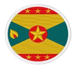 Grenada Flag embroidery design