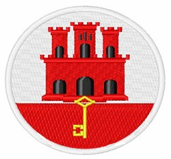 Gibraltar Flag embroidery design