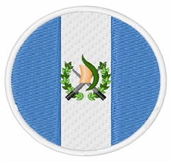 Guatemala Flag embroidery design