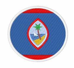 Guam Flag embroidery design