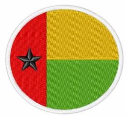 Guinea-Bissau Flag embroidery design