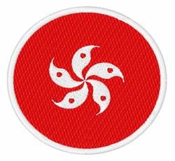 Hong Kong Flag embroidery design