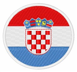 Croatia Flag embroidery design