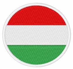 Hungary Flag embroidery design