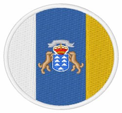 Canary Islands Flag embroidery design
