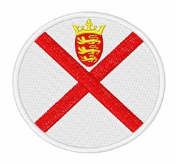 Jersey Flag embroidery design