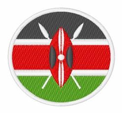 Kenya Flag embroidery design