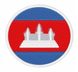 Cambodia Flag embroidery design