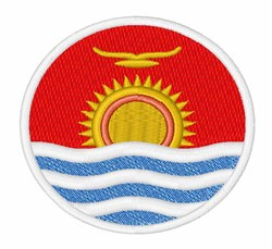 Kiribati Flag embroidery design