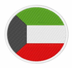 Kuwait Flag embroidery design