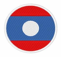 Laos Flag embroidery design