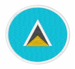 Saint Lucia Flag embroidery design