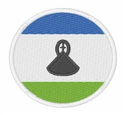 Lesotho Flag embroidery design