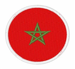 Morocca Flag embroidery design