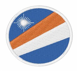 Marshall Islands Flag embroidery design