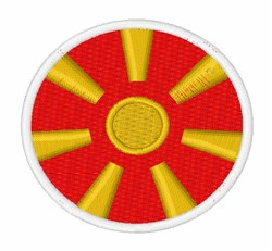 Macedonia Flag embroidery design